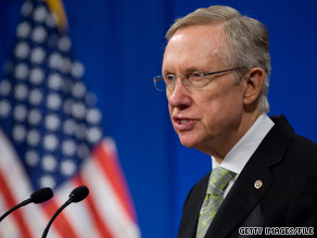 Sen. Harry Reid praised Sen. Scott Brown in the wake of the Senate's passage of Wall Street reform.