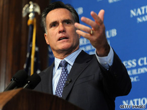 Mitt Romney on Monday warned members of the Tea Party movement not to mount third party efforts in general elections.