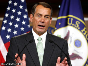 House Minority Leader John Boehner is calling for the ethics committee to continue investigating Eric Massa.