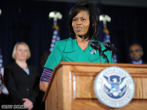 Michelle Obama's first solo international trip as first lady will be to Mexico.