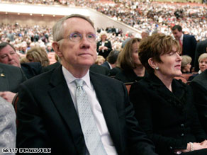 Senator Reid's wife Landra underwent surgery Friday in the Washington area.