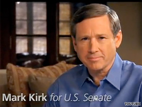 Rep. Mark Kirk is out Monday with his first TV ad.