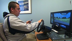 Training with a  virtual driving program can help teens be safe drivers in real situations.