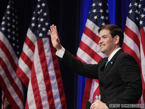 Marco Rubio has opened up a 23 point lead over Florida Gov. Charlie Crist, according to a new poll.