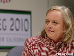 A third straight poll of California voters indicates that Meg Whitman has a slight lead over Jerry Brown in this year's battle for California governor.