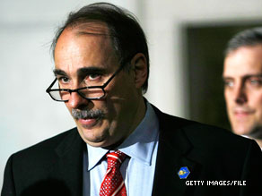 David Axelrod fired back Wednesday at Rep. Mark Kirk, a Republican who is seeking to replace Sen. Roland Burris as the junior Senator from Illinois.