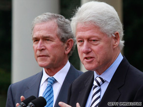 Former Presidents Bill Clinton and George W. Bush will travel to Haiti next week to meet with government officials and others involved in relief efforts after January's earthquake.