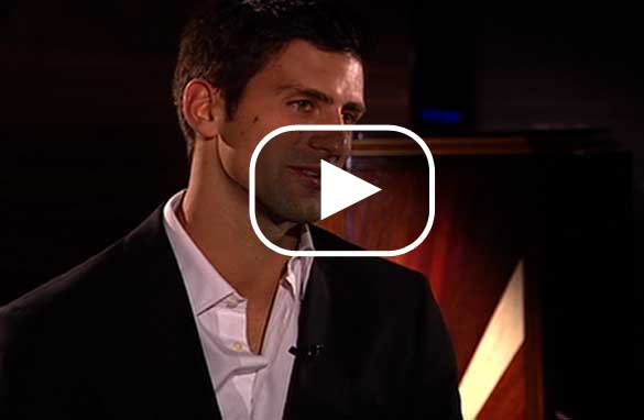 Open Court's Pedro Pinto catches up with world number two Novak Djokovic.