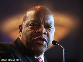 Civil rights icon Rep. John Lewis was the target of racial slurs on Saturday.