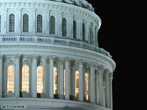 Lights on at the Capitol as the House of Representatives worked during a rare Sunday session last night. 