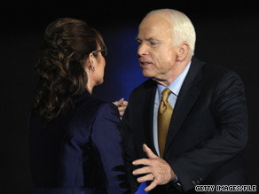 John McCain and Sarah Palin on election night in 2008.
