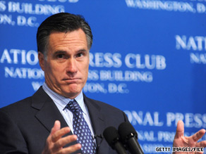 Romney will get tough on President Obama during a speech in Washington Friday.