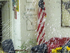 The Tucson office of Rep. Gabrielle Giffords was vandalized Monday.