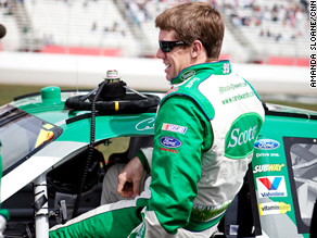 Carl Edwards works hard on and off the track to keep fit.