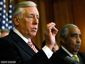 Democrat Steny Hoyer criticized Republicans Tuesday for their behavior during the health care debate.