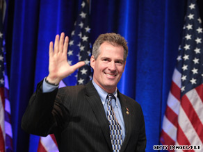 Sen. Scott Brown took a shot at MSNBC's Rachel Maddow.