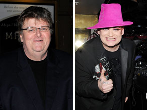 Can you connect Michael Moore to Boy George?