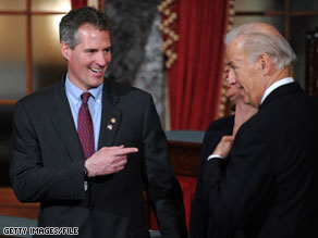 Scott Brown and Joe Biden had lunch Wednesday at the White House.