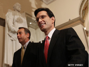 Eric Cantor was quick to respond to Friday's unemployment numbers.