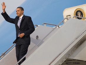 President Obama is set for a busy week, touting health care reform in Maine, then heading to Massachusetts and North Carolina.