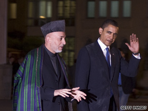 President Obama met with Afghan President Hamid Karzai over the weekend during an unannounced trip to Afghanistan.