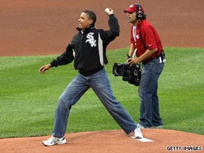 Obama threw out the first pitch at the All Star game last summer.