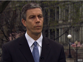 'Education has to rise above politics and ideology,' Education Secretary Arne Duncan told CNN Tuesday.
