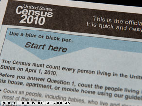 The Census form is required to be returned by April 1. The first Census was taken in 1790, when the U.S. population was less than the current population of Los Angeles -- around four million.