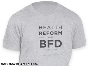 Organizing for America is using this T-shirt to raise funds.