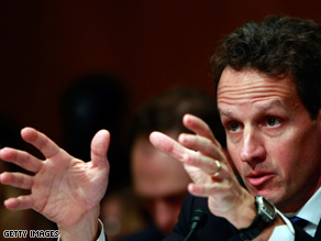 Treasury Secretary Tim Geithner said Thursday he expects the unemployment rate to remain high.