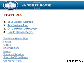 The White House mobile Web site.