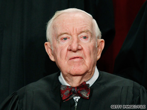 Supreme Court Justice John Paul Stevens says he will soon decide whether to step down after 35 years as the leader of the liberal wing of the nation's highest court.