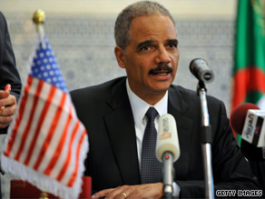 Attorney General Eric Holder signed a treaty with Algeria on Wednesday that he hopes will help combat terrorism in an area crucial in the battle against violent extremists.