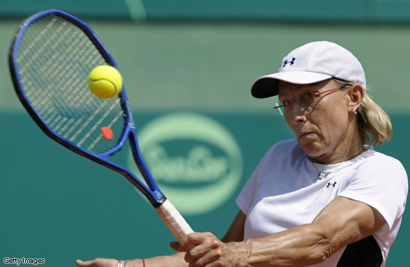 Tennis great Martina Navratilova was diagnosed with cancer after a routine mammogram revealed a cluster in her left breast.