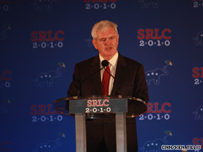 Gingrich is touting Sarah Palin's role in the Republican Party.