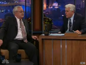 Massachusetts Rep. Barney Frank appeared on the Tonight Show with Jay Leno Thursday night.