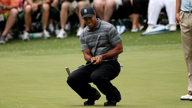 Tiger Woods could easily have shot a 64 at Augusta on Thursday.