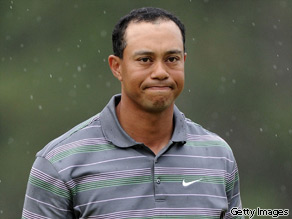 Tiger Woods during the first round of the 2010 Masters Tournament at Augusta National Golf Club.