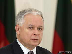 Poland President Lech Kaczynski died in a plane crash in Russia.
