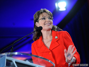 Former Alaska Gov. Sarah Palin delivers a speech focusing on energy policy.