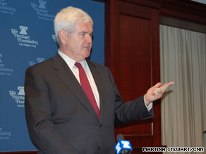 Former House Speaker Newt Gingrich said Tuesday that having a positive agenda in 2010 could help Republicans win the White House back in 2012.