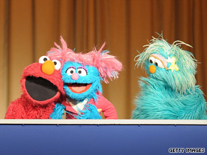 Sesame Street characters arrived at the Pentagon Tuesday to help debut a military-themed episode of its series called When Families Grieve.