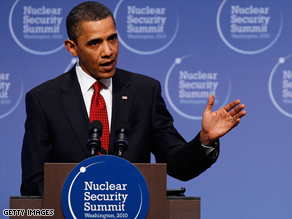 Pres. Obama answers reporters' questions during a news conference at the conclusion of the Nuclear Security Summit in Washington, DC.
