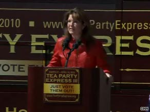 Sarah Palin praised Tea Party activists in Boston, Massachusetts, on Wednesday for 'shaking up' the U.S Senate last January.