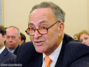 Sen. Chuck Schumer introduced a bill Wednesday that he says will rein in the airline industry.