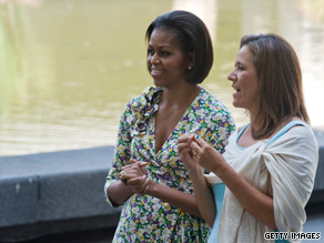 First Lady Michelle Obama met with her Mexican counterpart, Margarita Zavala de Calderon, on Wednesday.