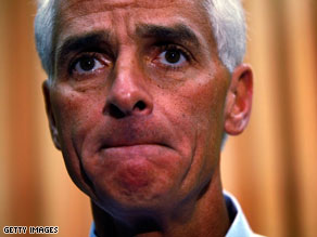 Charlie Crist's campaign chairman resigned Thursday evening.
