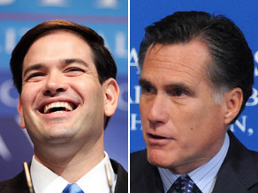Mitt Romney endorsed Marco Rubio's Senate bid in Florida on Monday.