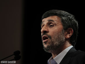 Mahmoud Ahmadinejad said he sent a letter to Obama earlier this week, telling his American counterpart that Iran was his only chance at success, the Islamic Republic News Agency reported.