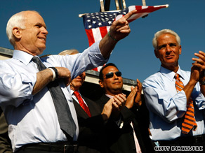 Sen. John McCain said Sunday that he 'hopes Charlie Crist will remain a Republican.'